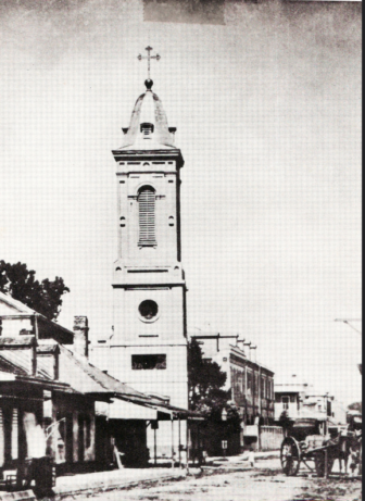An early rendering of the oldest predominantly black Catholic church in America.