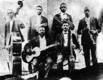 Bolden, top row 2nd from left, fused church music with ragtime to invent something altogether new: jazz.