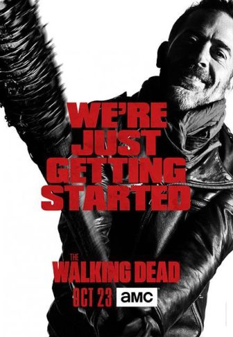 "A promotional poster for the AMC's ""Walking Dead."""
