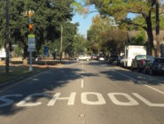 The school-zone light on Orleans Avenue near John Dibert Elementary School was working again on Nov. 15, 2016. The light was turned off after one charter school. But another school moved in soon after.