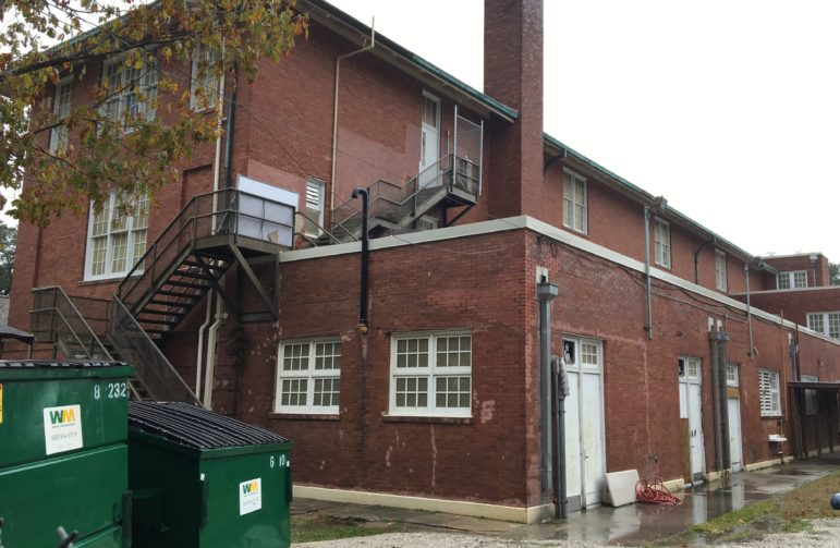 Students have opened a fire-escape door on the third floor of ReNEWs building on Carrollton Avenue and walked down onto the adjoining roof, according to police. A school spokesman said safety precautions prevent the door from being locked from the inside.