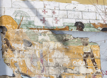 A detail from the mural depicts African participation in the history of the Western Hemisphere.