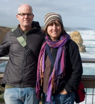 Bound for New Orleans, the peripatetic Chadwell and Lednicky visited the natural formation known as The Twelve Apostles in Victoria, Australia, last May.