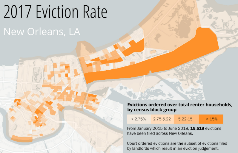 New report says New Orleans eviction rate is nearly double national average